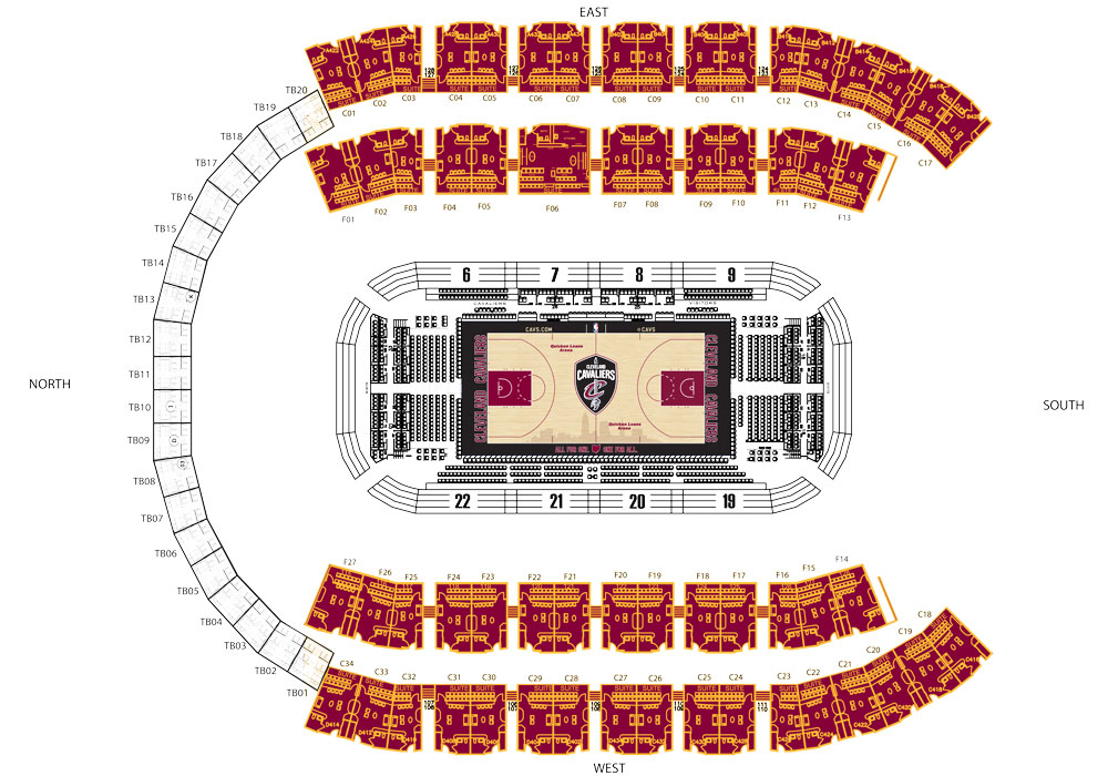 Single Event Suites Seating Map