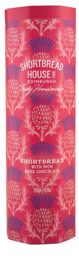 Shortbread House Tin with Rich Dark Chocolate 280g