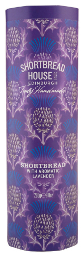 Shortbread House Tin with Aromatic Lavender 280g
