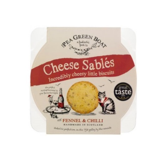 The Pea Green Boat Cheese Sables Fennel & Chilli