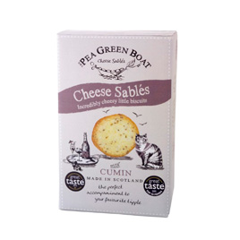 The Pea Green Boat Cheese Sables with Cumin