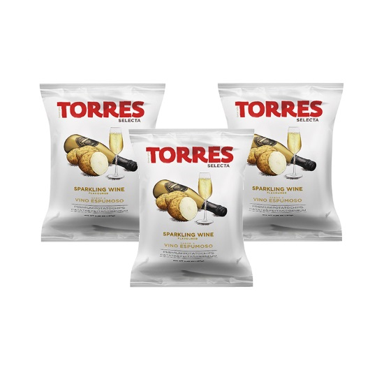 Torres Sparkling Wine Chips 50g (3-Pack)