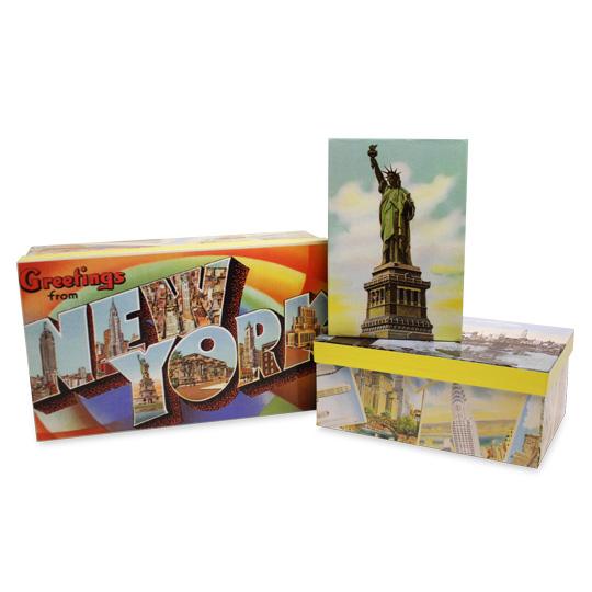 New York Nostalgic Decorative Boxes (Set of 3)