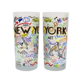 New York City Glass Tumbler From Catstudio