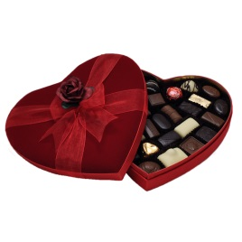 Valentine's Day Leonidas Chocolate Velvet Heart- 16oz