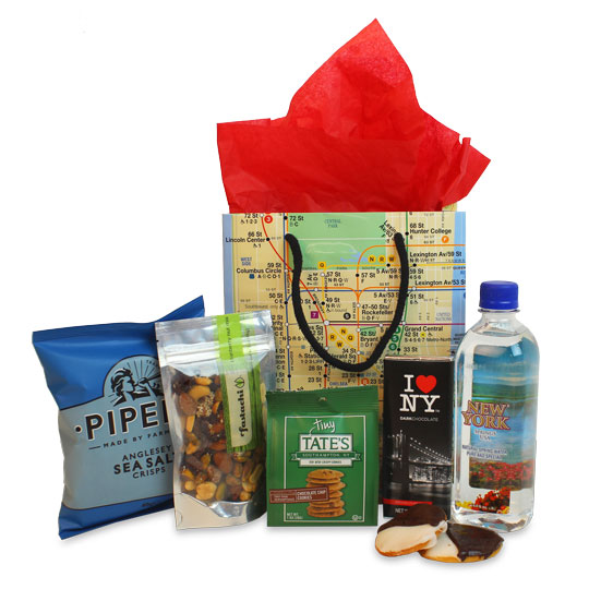 New york themed gifts ny welcome bag for Gifts for new yorkers