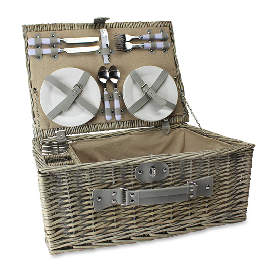 Willow Picnic Basket Fitted for Four