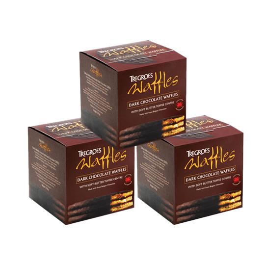 Tregroes Waffles Dark Chocolate (3-Pack)