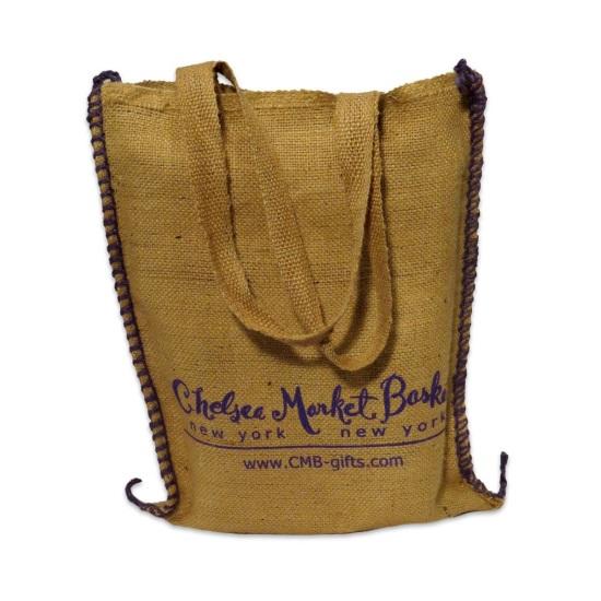 CMB Logo Burlap Tote Bag