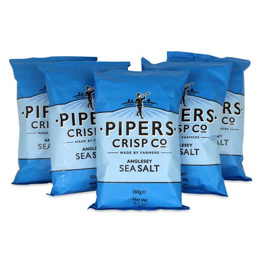 Pipers Crisps Sea Salt Chips 5.3oz (5-Pack)