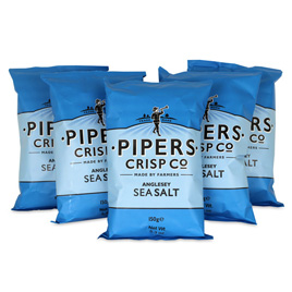 Pipers Crisps Sea Salt Chips 5.3oz (5-Pack)