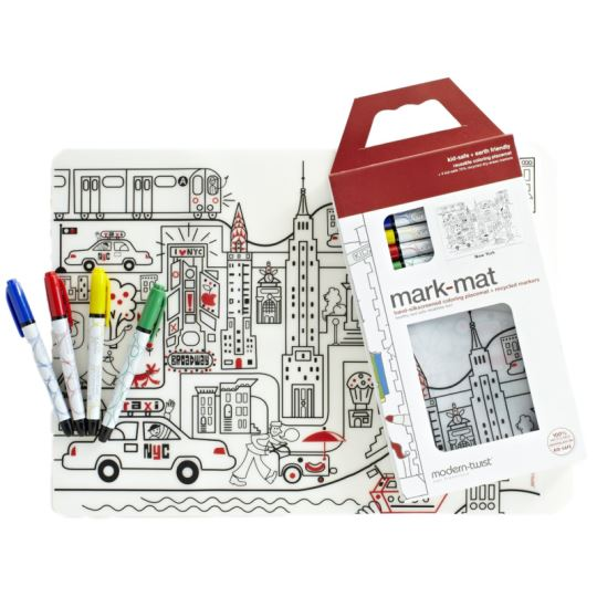 Modern Twist New York Coloring Placemat