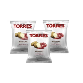 Torres Iberian Ham Chips 50g (3-Pack)