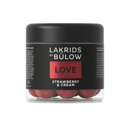 Lakrids LOVE- Strawberry & Cream Chocolate Coated Licorice 125g