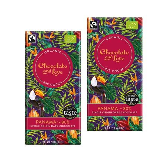 Chocolate & Love Panama Single Origin 80% (2-Pack)