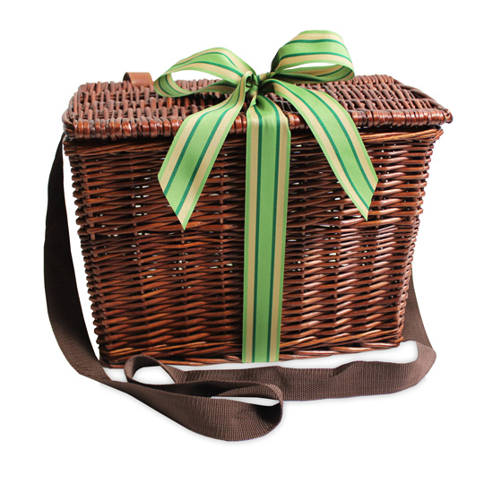 Willow Lidded Hamper with Shoulder Strap
