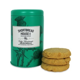 Shortbread House Stem Ginger Biscuit Tin 140g