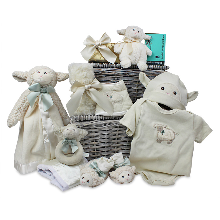 Gifts for children of any age chelsea market baskets baby lamb snuggler gift negle Choice Image