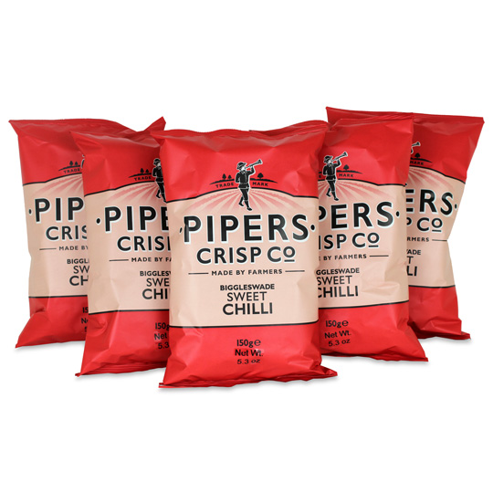 Pipers Crisps Sweet Chilli Chips 5.3oz (5-Pack)
