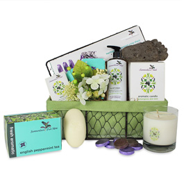 Summerdown Mint Spa Basket