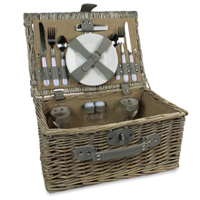 Willow Picnic Basket Fitted for Two