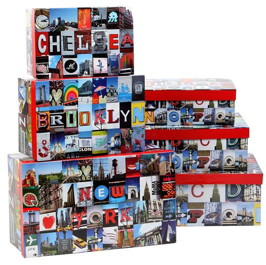 New York Modern Decorative Boxes (Set of 3)