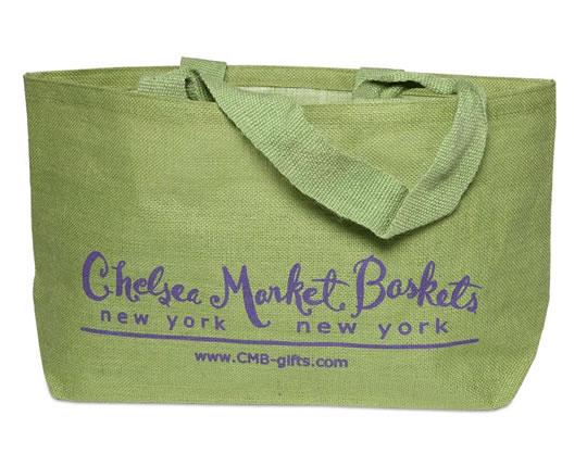 CMB Logo Green Jute Tote Bag