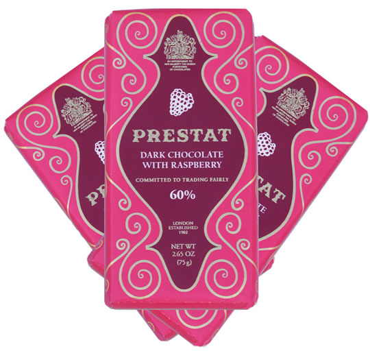 Prestat Dark Chocolate Raspberry Bars (3-Pack)