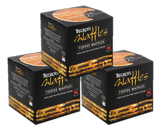 Tregroes Waffles Original Toffee (3-Pack)