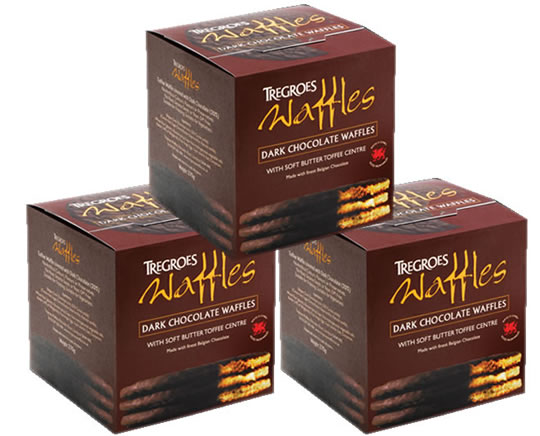 Tregroes Waffles Dark Chocolate (3-Pack)