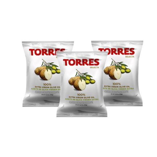 Torres Extra Virgin Olive Oil Chips 150g (3-Pack)