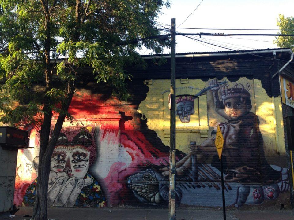 Bellavista é cheia de street art