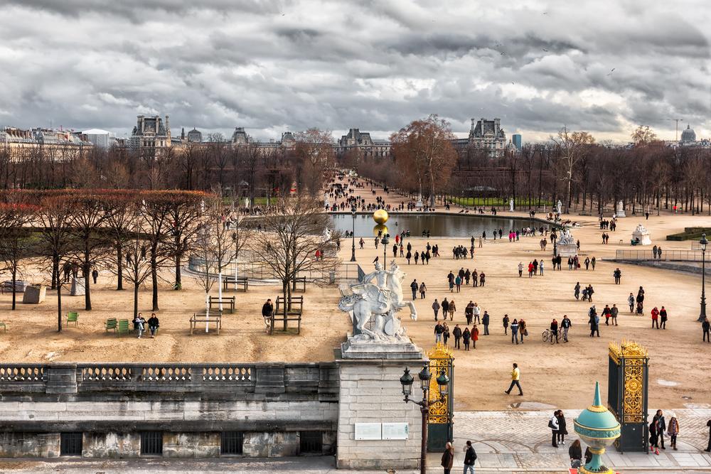Vista aérea Parc Tuileries - Crédito foto: cdrin - Shutterstock.com