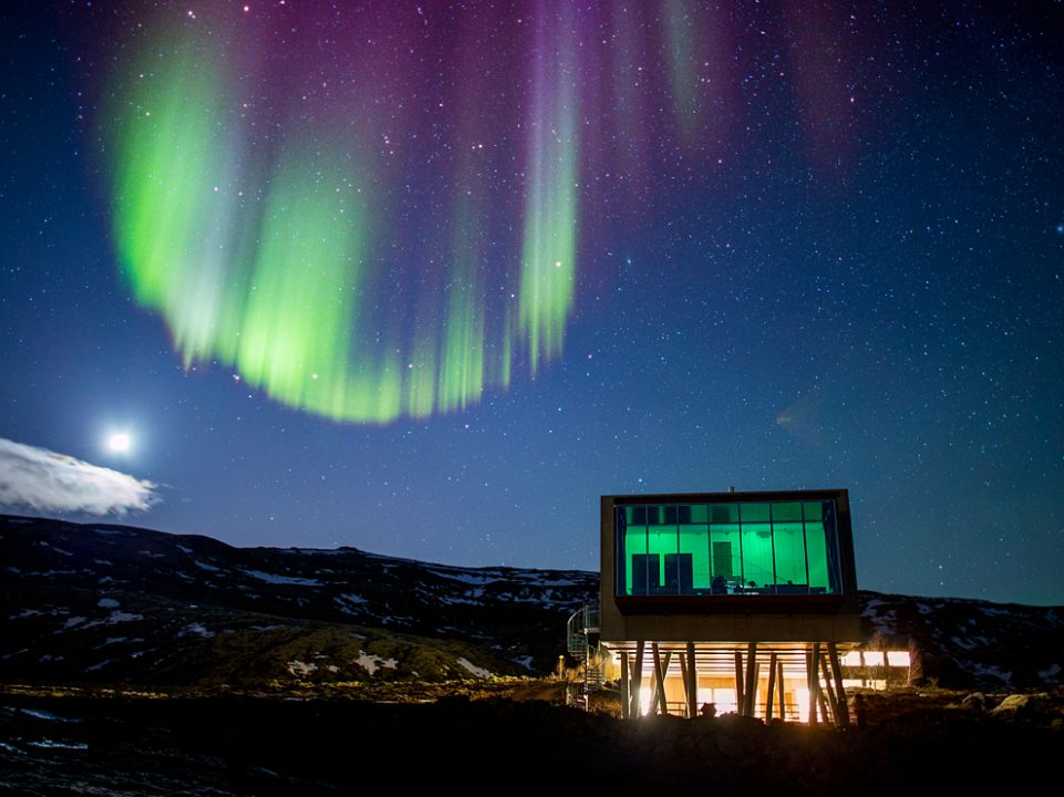 O hotel que ficamos: Ion Hotel - foto bar Nothern Lights por Ragnar Th Sigurdsson, Arctic Images/Alamy