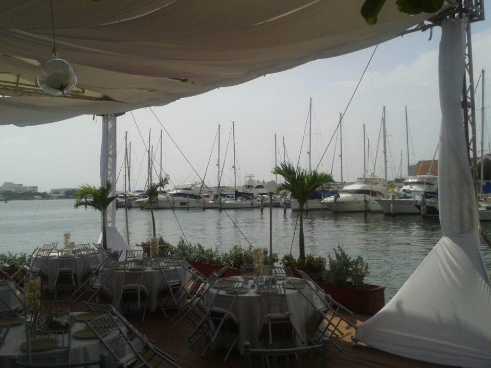 Vista do Club de Pesca
