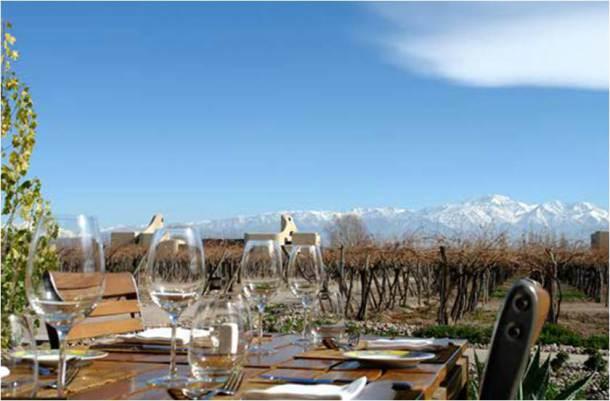 Vista incrível do restaurante do Cavas Wine Lodge. Foto: Sarah Galvão