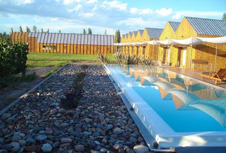 A piscina e a tranquilidade do Aguamiel. Foto: Sarah Galvão