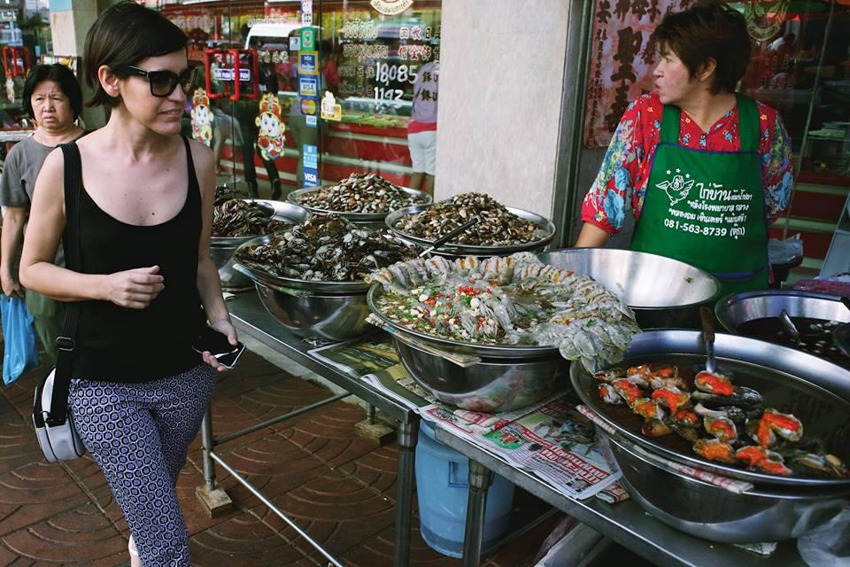 Passeando por Chinatown. Frutos do mar de todos os tipos. Foto Ola Persson