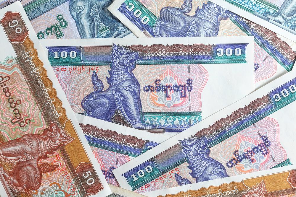 Moeda birmanesa - shutterstock.com