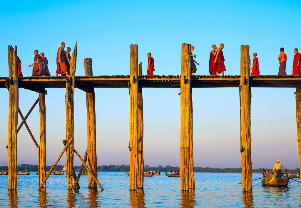 U-Bein Bridge, Mandalay - foto Seqoya - shutterstock.com