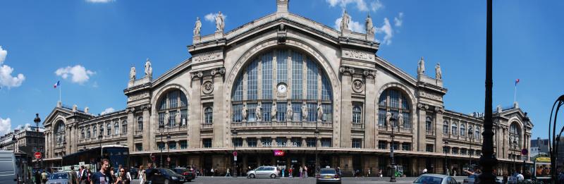 A enorme e linda Gare du Nord em Paris. Foto: Wikipedia