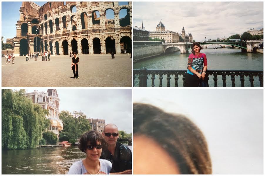 Em Roma (Coliseu), Em Paris (Senne), o primeiro passeio de barco nos Canais de Amsterdã e a neve pela primeira vez nos cabelos. Registros importantes para um turista.