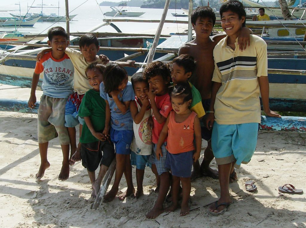 As crianças de Boracay, 2007 (Foto: Priscilla Dieb)