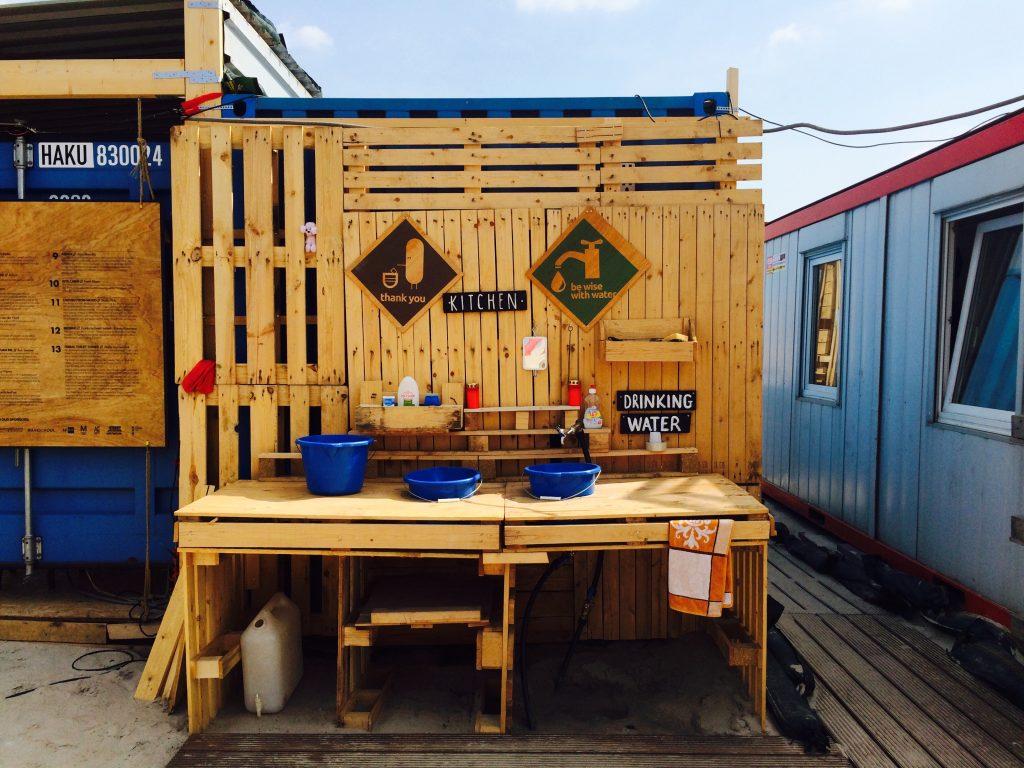 urban campsite facilities