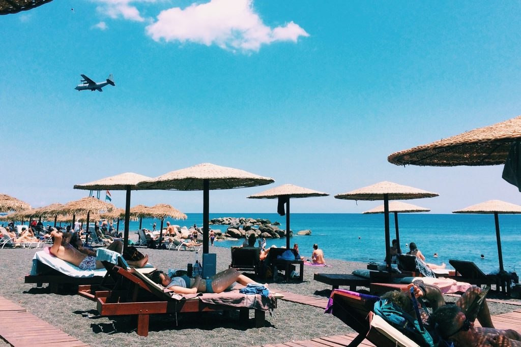 Kamari Beach. Foto: Lalai Persson