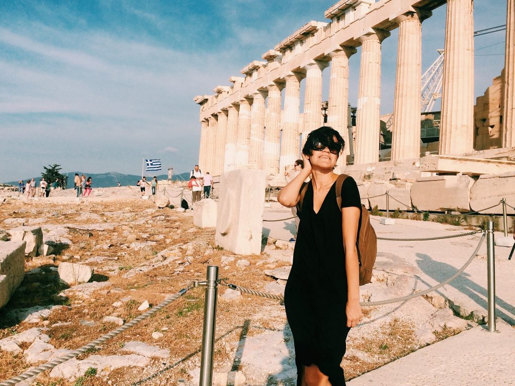 Eu musando no Parthenon. Foto: Renato Salles