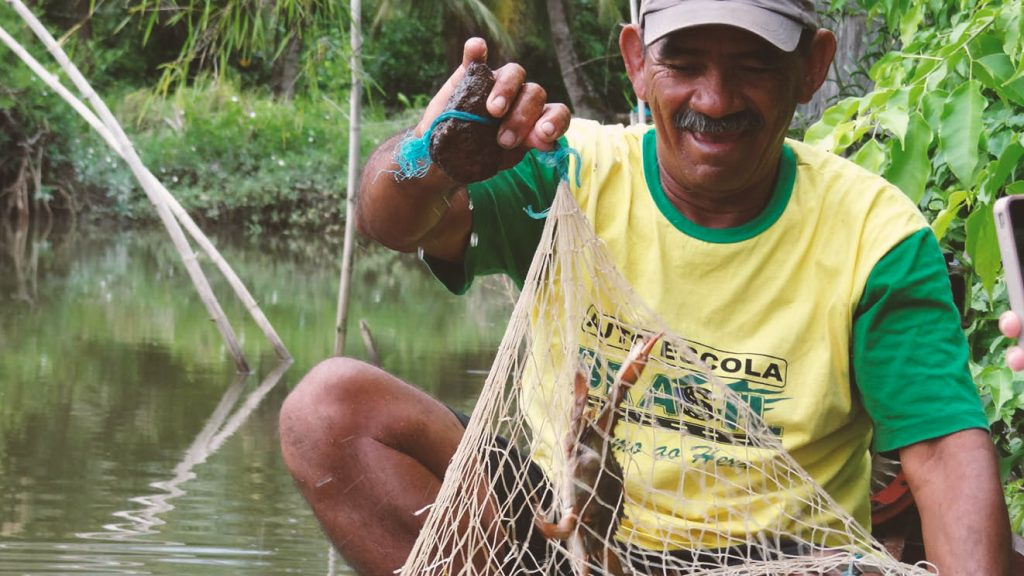 Catita, o pescador mais experiente da Vila do Pesqueiro Foto: Flávia Elisa Pereira