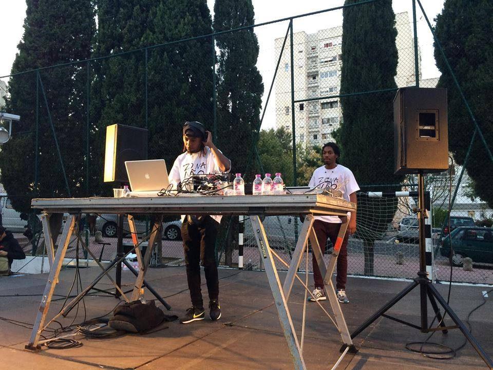C.D.M (Maboku e LLcox) no Zona Não Vigiada, um evento que aproximou Lisboa da sua música. (Créditos: Priscilla Dieb)