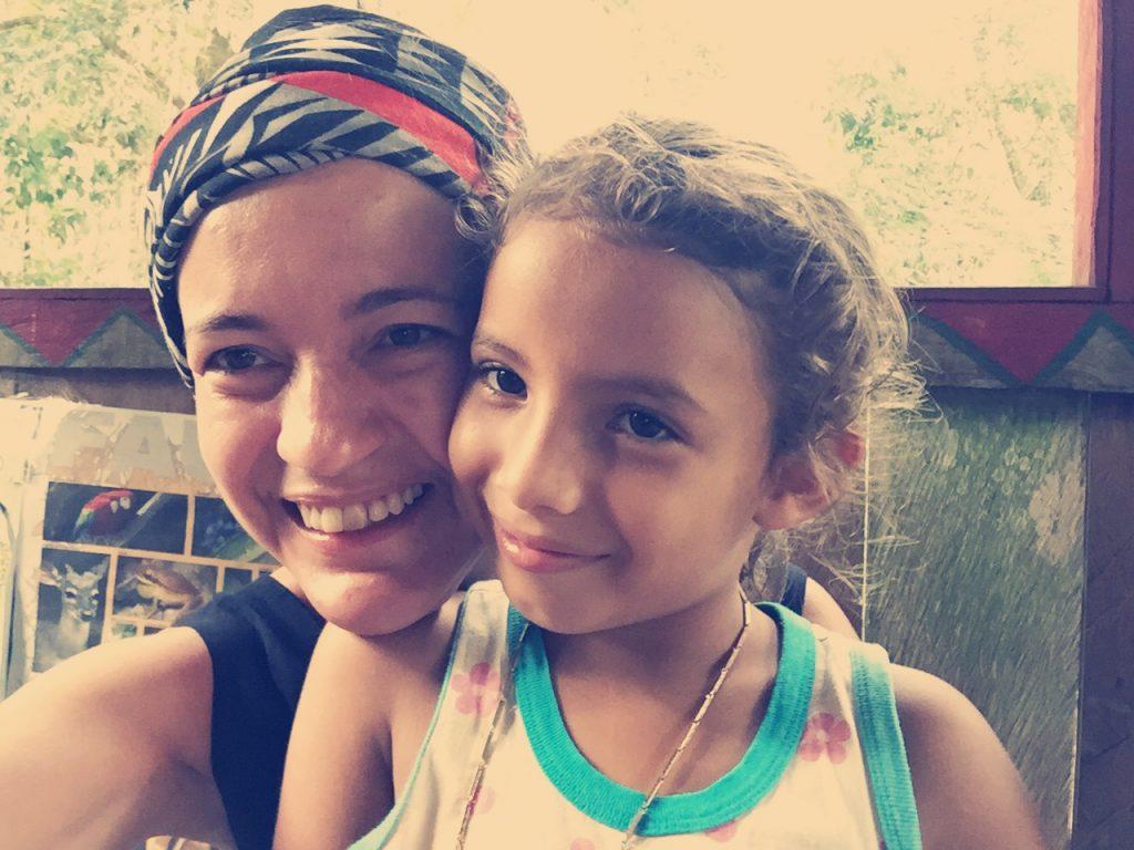 Eu e a Yasmim, que eu quis trazer na mala pra São Paulo