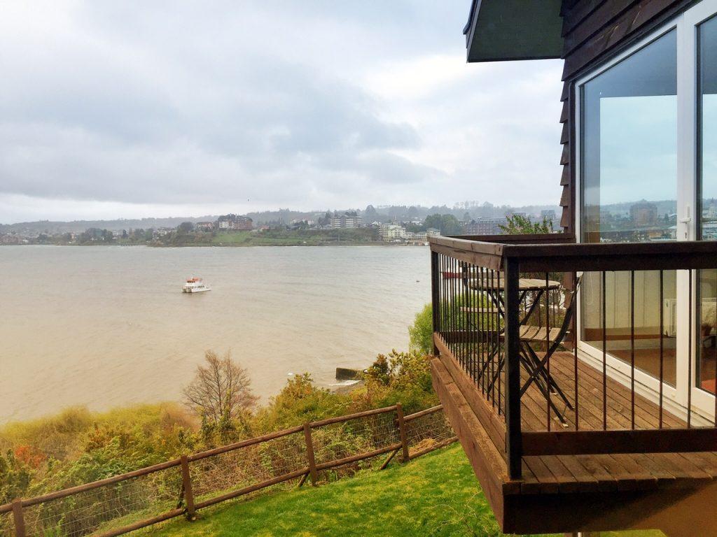A vista da cidade a partir do Hotel Cabañas del Lago